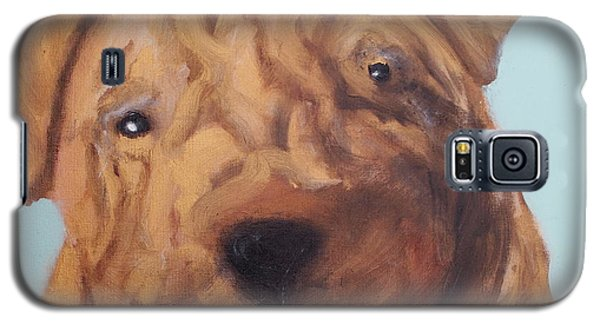 Sharpei - Golden Boy Galaxy S5 Case by Laura  Grisham