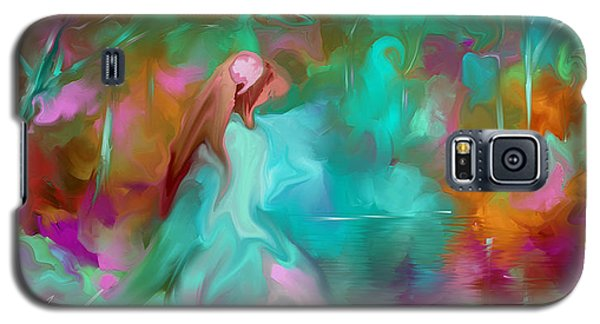 Galaxy S5 Case featuring the painting She Finds Her Peace by Steven Lebron Langston