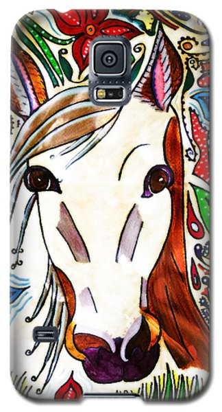 She Grazes Where Flowers Grow - Horse Galaxy S5 Case