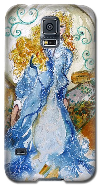 Galaxy S5 Case featuring the mixed media She  Loves The Sea by P Maure Bausch