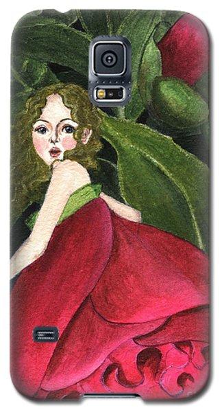 She Stole A Peony To Wear Galaxy S5 Case by Jingfen Hwu