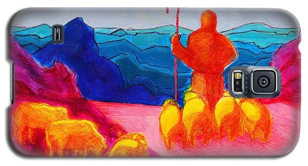 Sheep And Shepherd Painting Bertram Poole Galaxy S5 Case