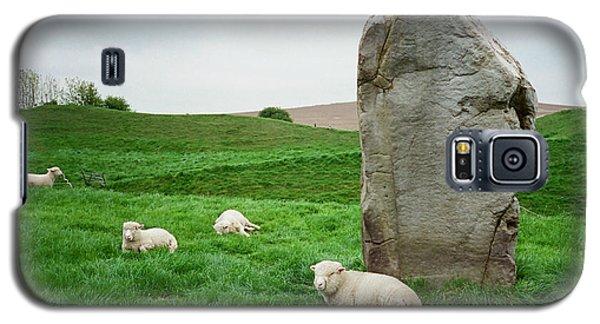Sheep At Avebury Stones - Original Galaxy S5 Case by Marilyn Wilson