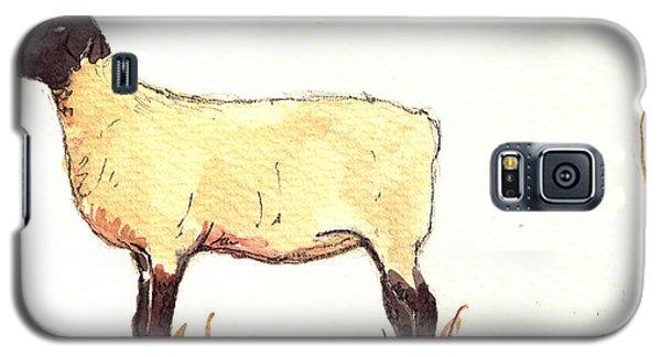 Sheep Black White Galaxy S5 Case by Juan  Bosco