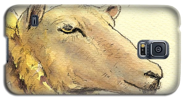 Sheep Galaxy S5 Case - Sheep Head Study by Juan  Bosco