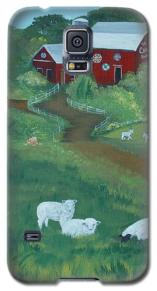 Sheeps In The Meadow Galaxy S5 Case by Virginia Coyle