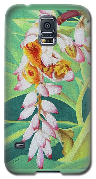 Galaxy S5 Case featuring the painting Shell Ginger by Margaret Saheed