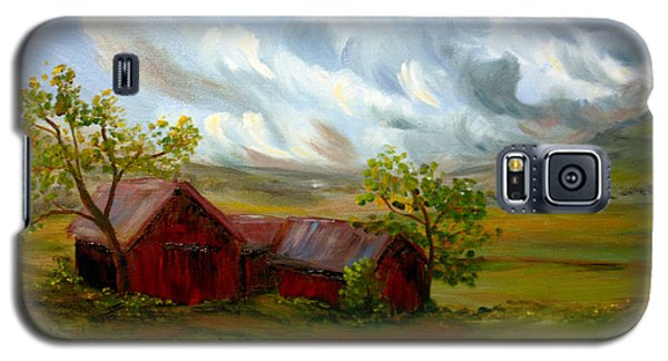 Galaxy S5 Case featuring the painting Shelter From The Storm by Meaghan Troup