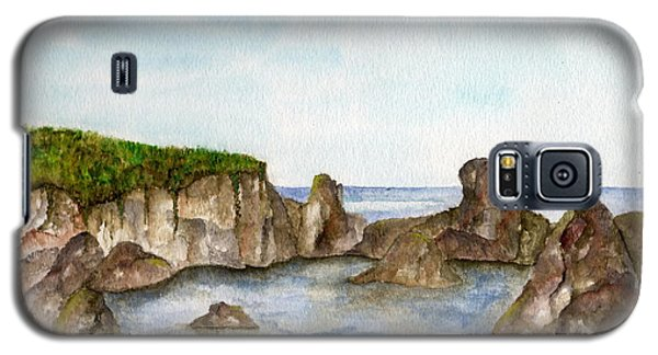 Galaxy S5 Case featuring the painting Sheltered Cove by Tamyra Crossley
