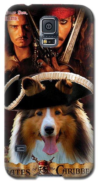 Sheltie - Shetland Sheepdog Art Canvas Print - Pirates Of The Caribbean The Curse Of The Black Pearl Galaxy S5 Case