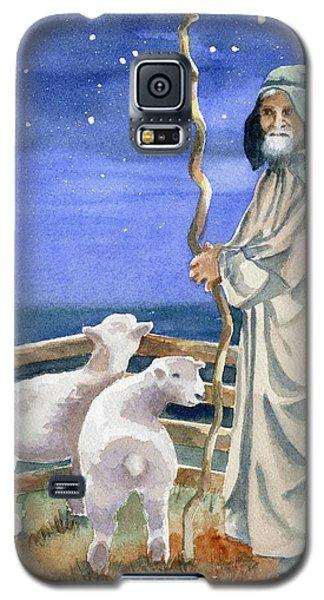 Sheep Galaxy S5 Case - Shepherds Watched Their Flocks By Night by Marsha Elliott