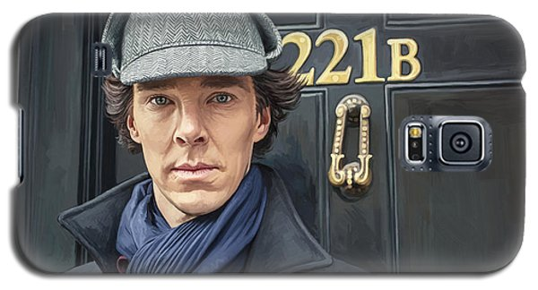 Galaxy S5 Case featuring the painting Sherlock Holmes Artwork by Sheraz A