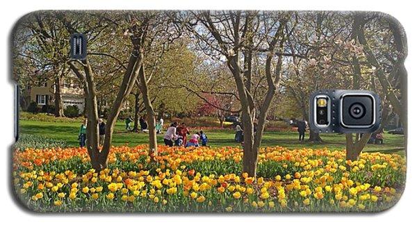 Sherwood Gardens Yellow Tulips Galaxy S5 Case