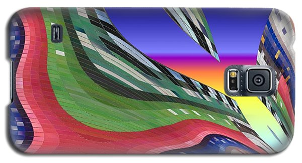 She's Leaving Home Abstract Galaxy S5 Case by Alec Drake