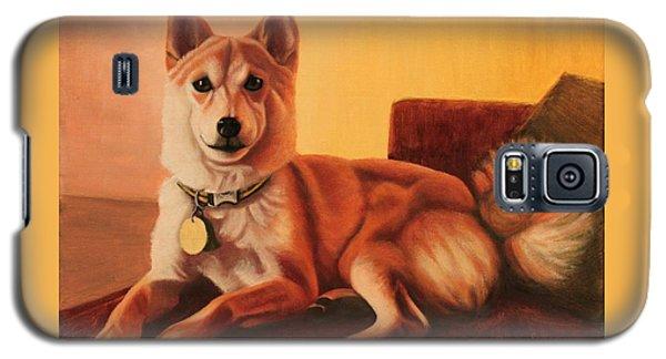 Shiba Inu Portrait Galaxy S5 Case