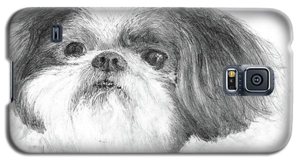 Galaxy S5 Case featuring the drawing Shih-tzu by Jim Hubbard
