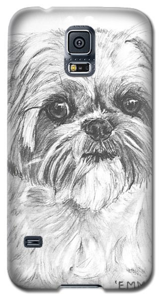 Shih Tzu Portrait In Charcoal Galaxy S5 Case