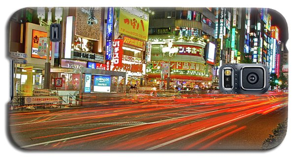 Galaxy S5 Case featuring the photograph Shinjuku Neon Strikes by Jonah  Anderson