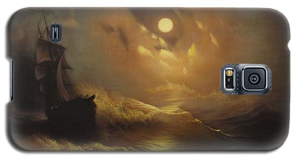 Ship At Sea Galaxy S5 Case by Rembrandt