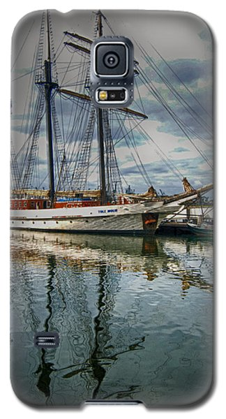 Galaxy S5 Case featuring the photograph Ship At Shoreline by Joseph Hollingsworth
