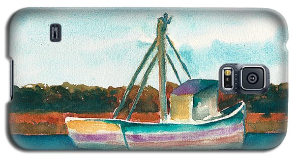 Ship In The Marsh Galaxy S5 Case by Frank Bright