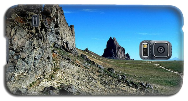 Galaxy S5 Case featuring the photograph Shiprock by Alan Socolik