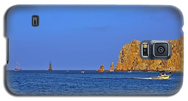 Galaxy S5 Case featuring the photograph Ships Lining Up At Land's End by Christine Till