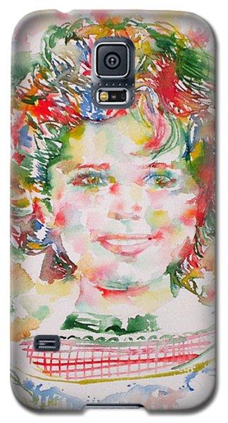 Shirley Temple - Watercolor Portrait.1 Galaxy S5 Case by Fabrizio Cassetta