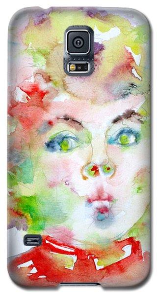Shirley Temple - Watercolor Portrait.2 Galaxy S5 Case by Fabrizio Cassetta