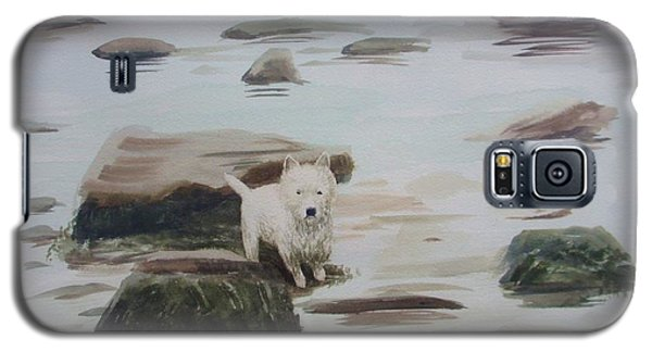 Galaxy S5 Case featuring the painting Shirley's Dog by Martin Howard