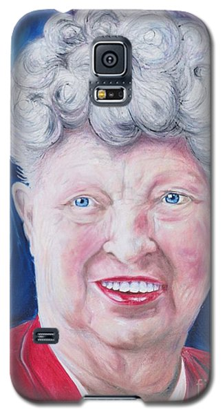 Galaxy S5 Case featuring the painting Shirley's Portrait by PainterArtist FINs husband Maestro
