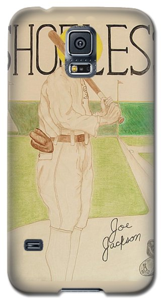 Galaxy S5 Case featuring the painting Shoeless Joe Jackson by Rand Swift