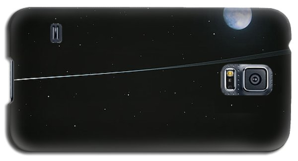 Galaxy S5 Case featuring the digital art Shooting Star by Pete Trenholm
