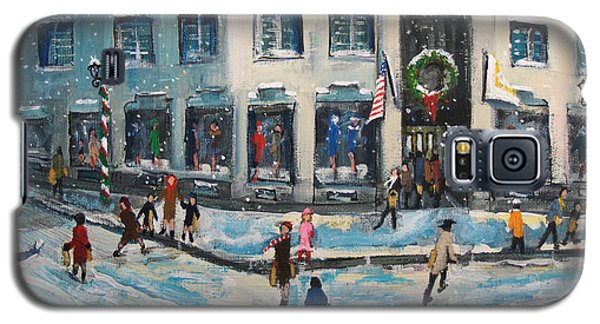 Galaxy S5 Case featuring the painting Shopping At Grover Cronin by Rita Brown