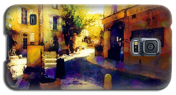 Galaxy S5 Case featuring the painting Shops In The Lane by Wayne Pascall