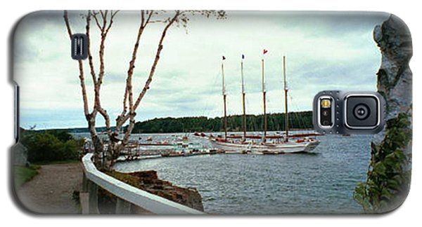 Galaxy S5 Case featuring the photograph Shore Path In Bar Harbor Maine by Judith Morris