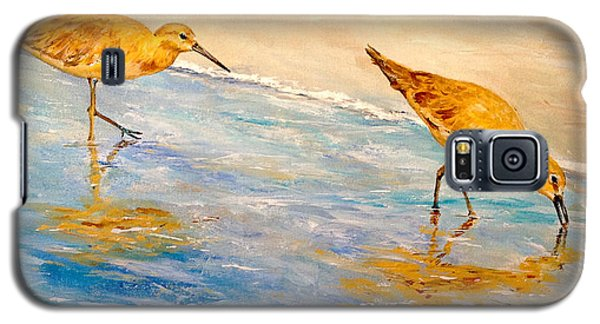 Galaxy S5 Case featuring the painting Shore Patrol by Alan Lakin