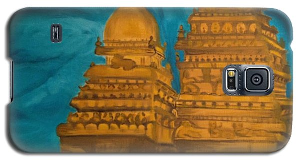 Galaxy S5 Case featuring the painting Shore Temple by Brindha Naveen