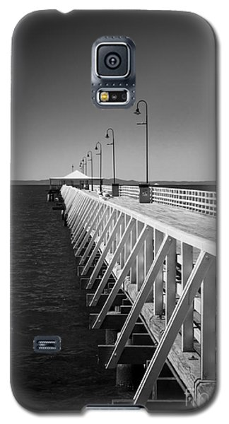 Galaxy S5 Case featuring the photograph Shorncliffe Pier In Monochrome by Peta Thames