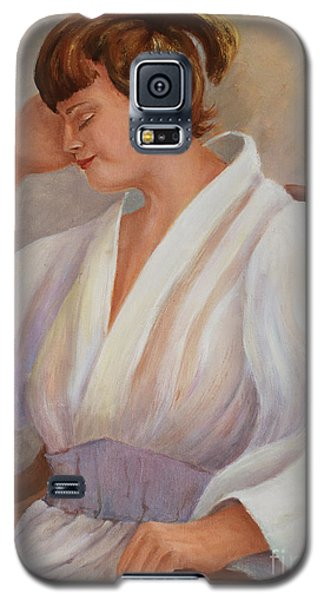 Galaxy S5 Case featuring the painting Short Nap by Marta Styk