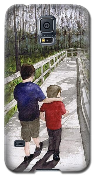 Galaxy S5 Case featuring the painting Short Walk Long Pier by June Holwell