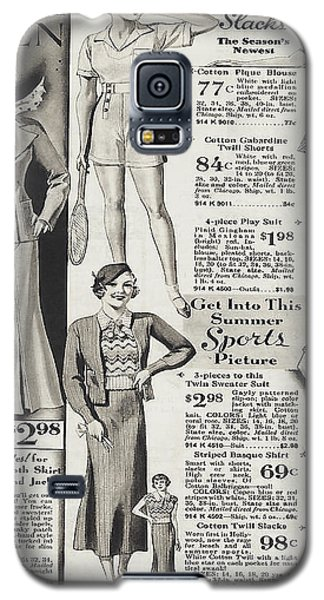 Galaxy S5 Case featuring the photograph Shorts And Slacks 1934 77 Cents by Merton Allen
