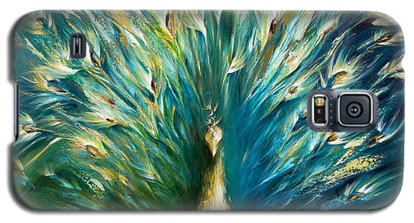 Show Off 3 White Peacock Galaxy S5 Case by Dina Dargo