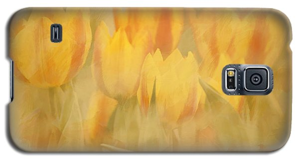 Galaxy S5 Case featuring the digital art Showtime Tulips by Linda Blair