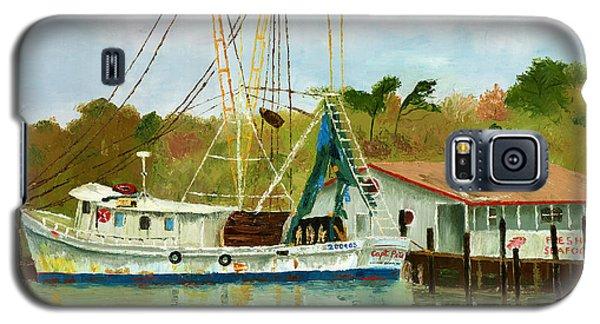 Shrimp Boat At Dock Galaxy S5 Case