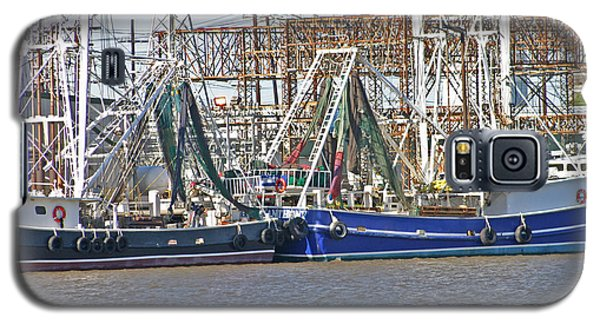 Shrimp Boats 1 Port Arthur Texas Galaxy S5 Case by D Wallace