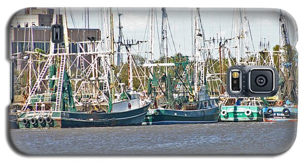 Shrimp Boats 3 Port Arthur Texas Galaxy S5 Case by D Wallace