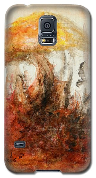 Galaxy S5 Case featuring the painting Shroom by Christophe Ennis