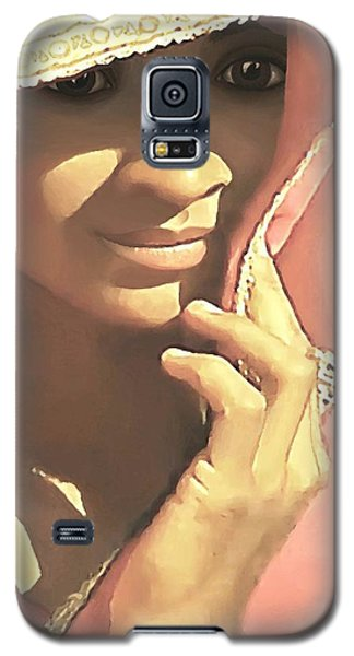 Galaxy S5 Case featuring the painting Shy by Sophia Schmierer
