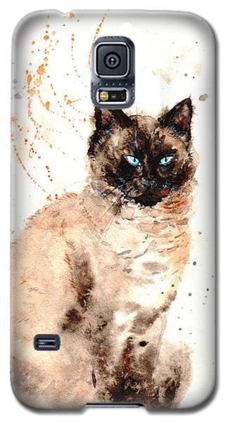 Siamese Beauty Galaxy S5 Case by Zaira Dzhaubaeva
